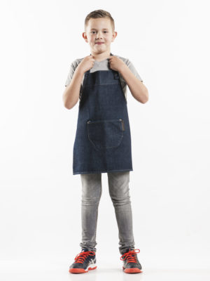 Schort kids blue denim