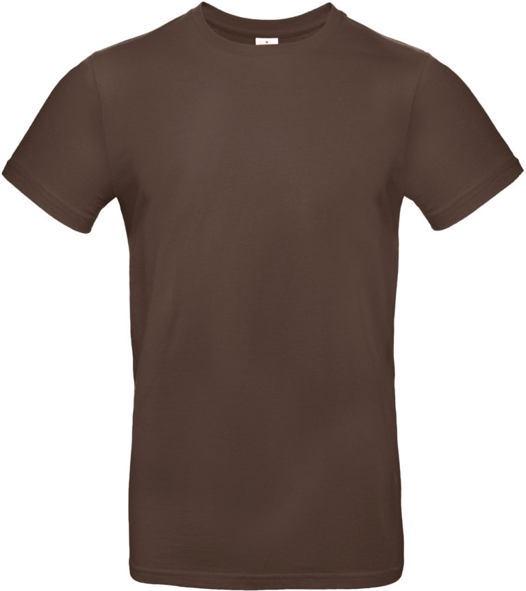 Exact 190 T-shirt B&C donkerbruin