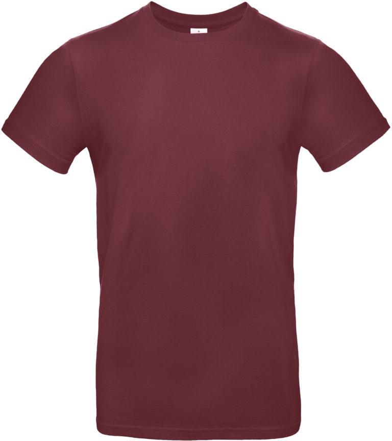 Exact 190 T-shirt B&C Bordeauxrood