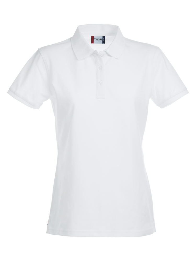 028241 Premium Polo Ladies wit