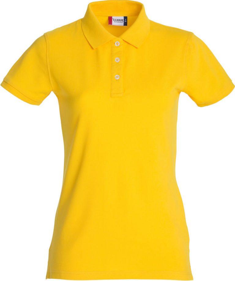 028241 Premium Polo Ladies geel