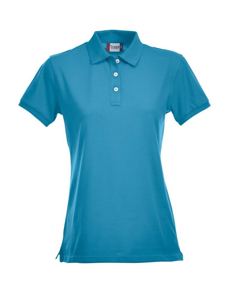 028241 Premium Polo Ladies turquoise