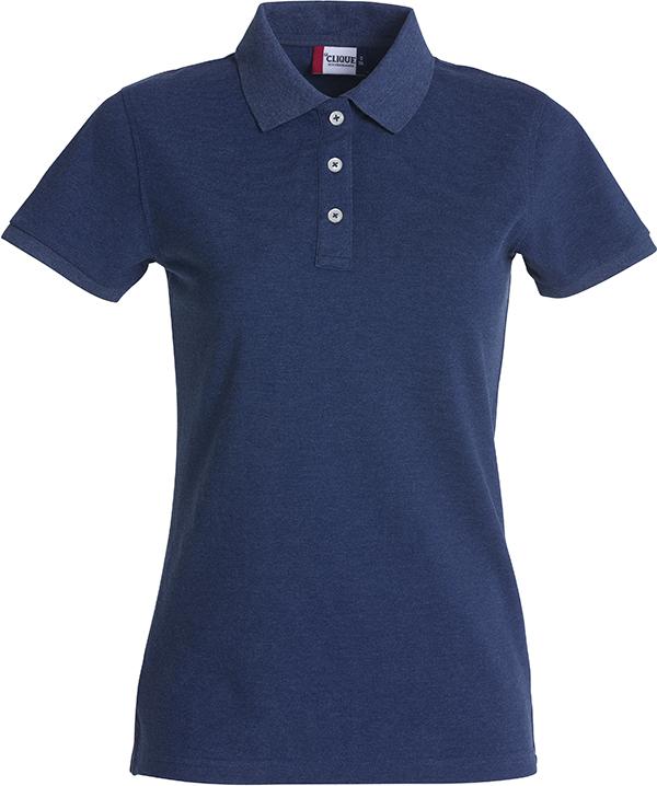 028241 Premium Polo Ladies blauw-melange