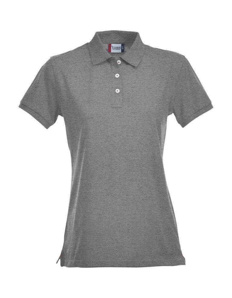 028241 Premium Polo Ladies grijs-melange