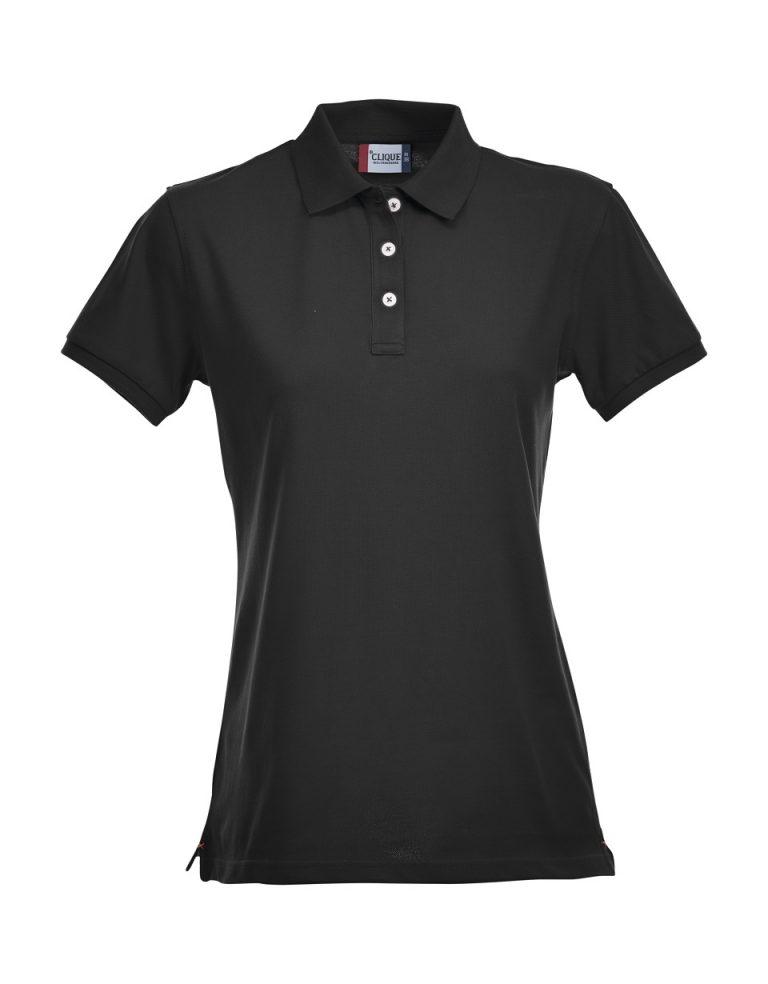 028241 Premium Polo Ladies zwart