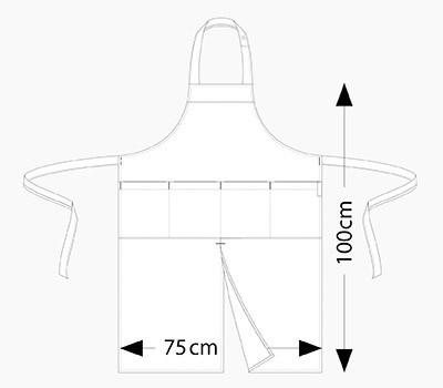 halterschort 4-pockets chaud devant