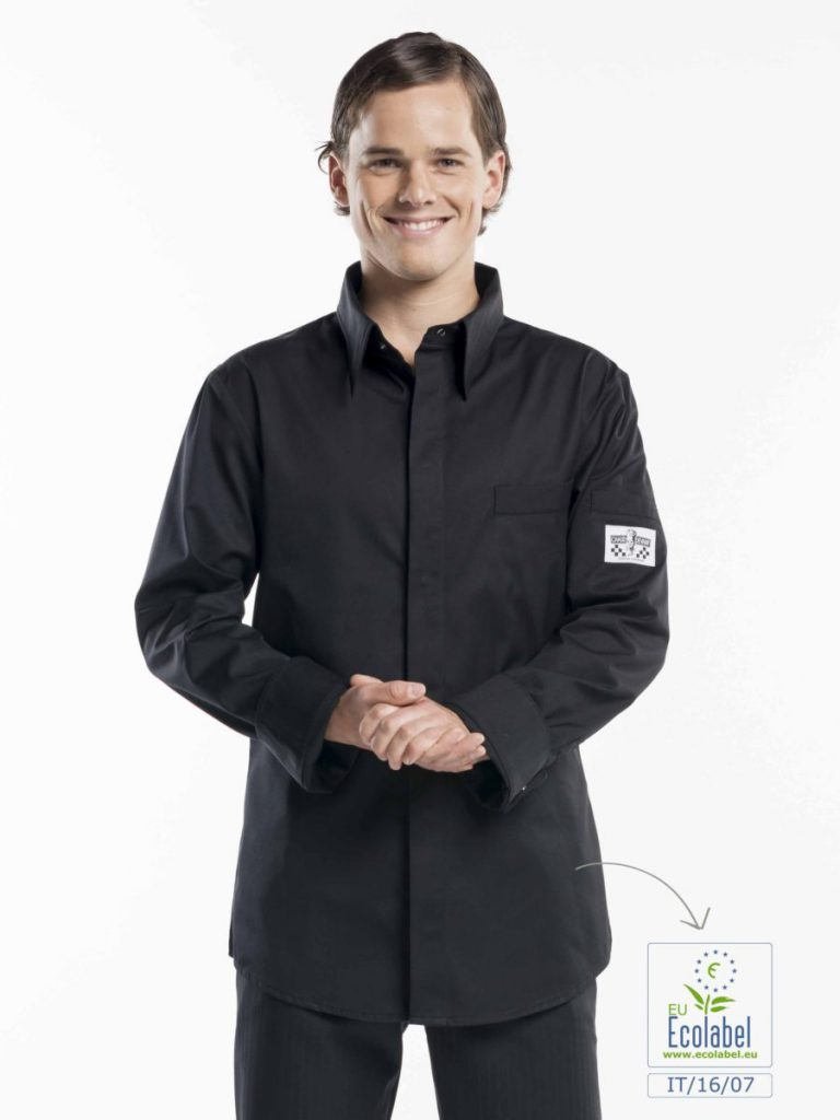 chef shirt chaud devant zwart