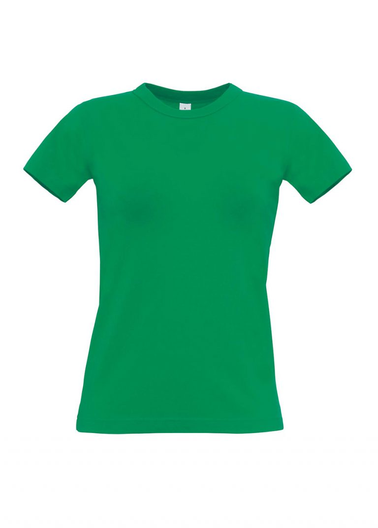 Exact 190 dames T-shirt B&C kelly green
