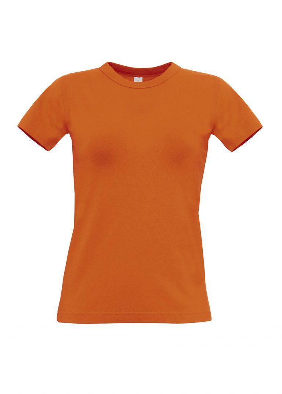 Exact 190 dames T-shirt B&C oranje