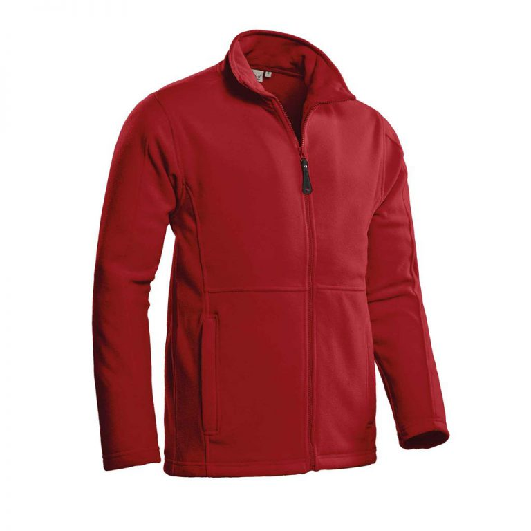 Bormio Fleecevest Santino rood