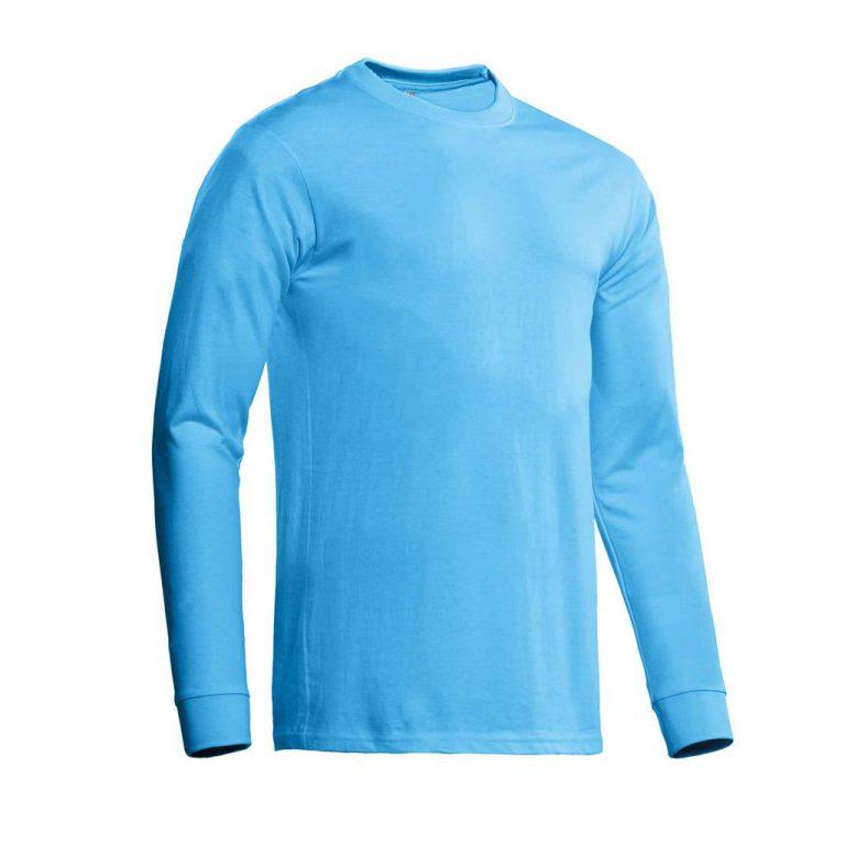 James T-shirt lange mouw Santino aqua