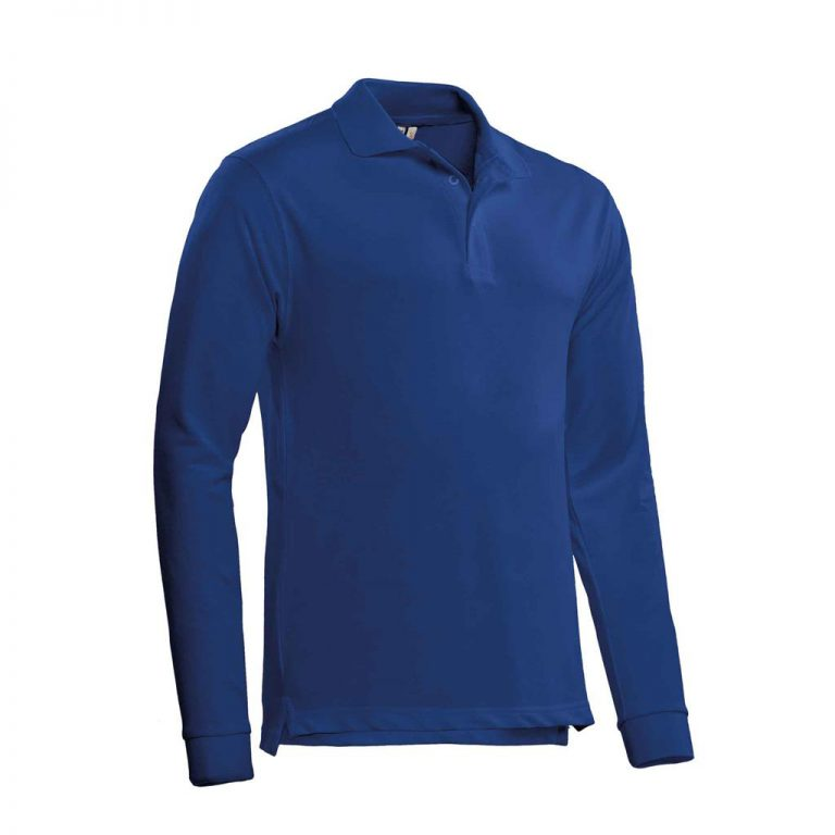 Matt Polo Lange Mouw Santino royal blue