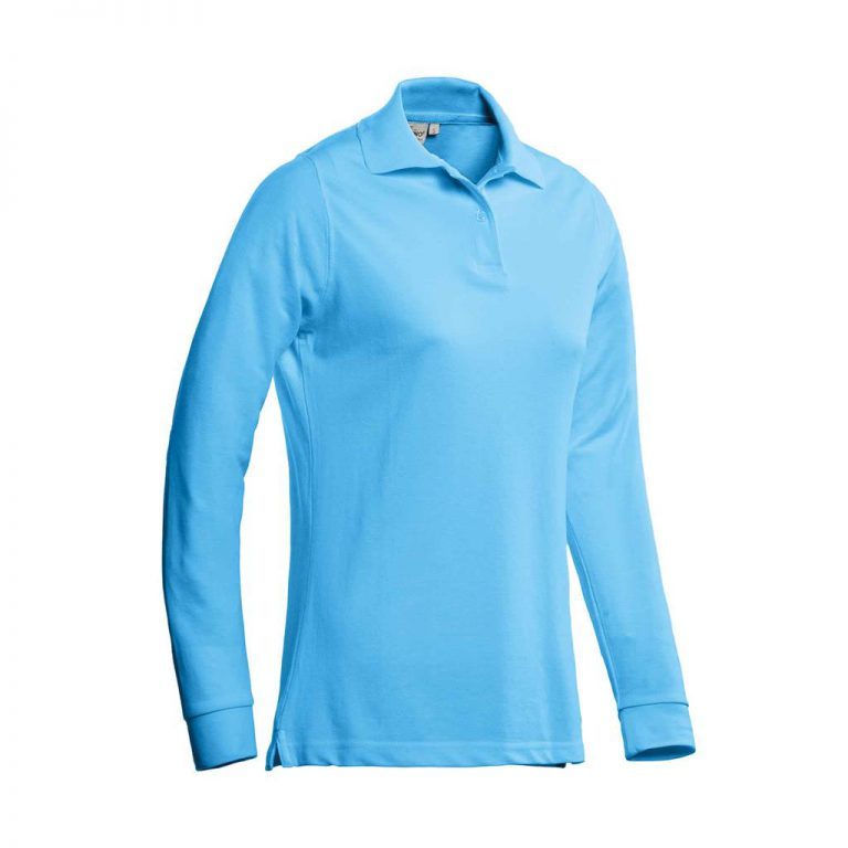 Matt Polo Ladies Lange Mouw Santino aqua