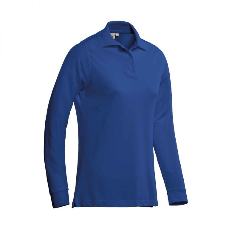 Matt Polo Ladies Lange Mouw Santino royal blue