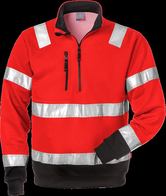 100134 HI-VIS Zipsweater Fristads