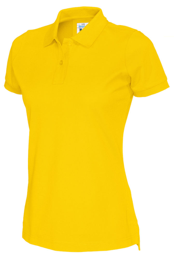141005 CottoVer Polo Lady yellow