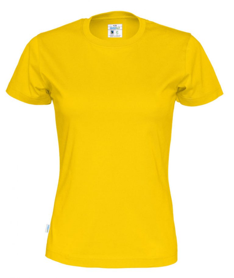 141007 CottoVer T-shirt lady yellow