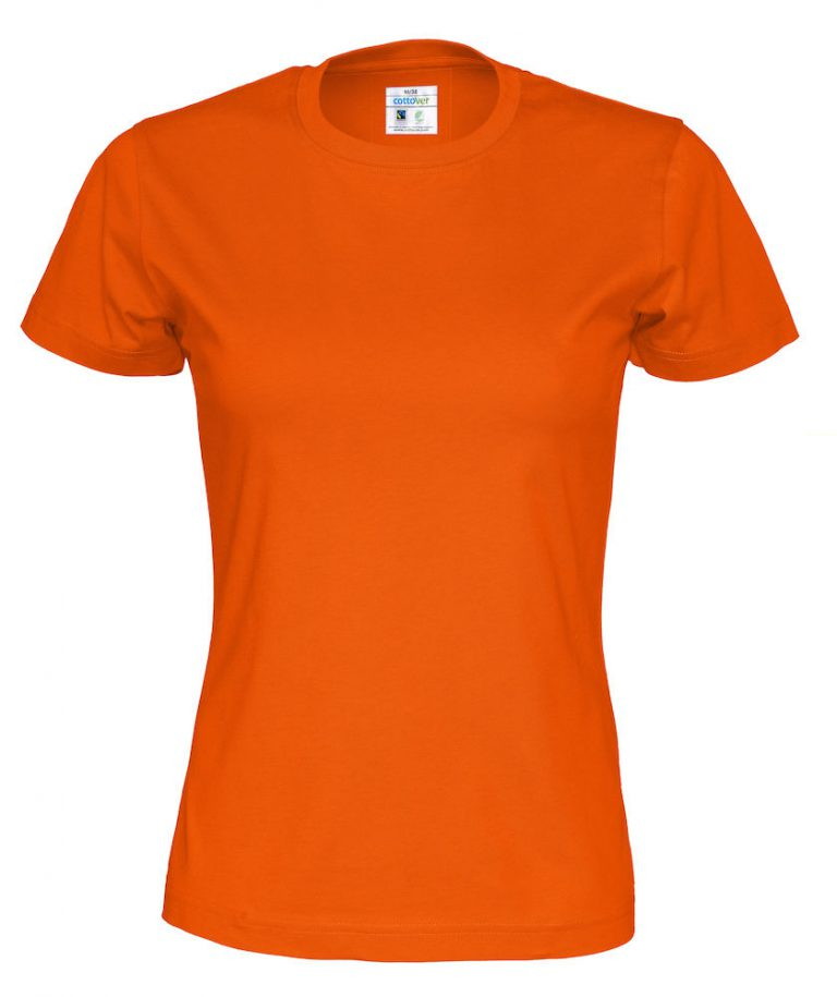 141007 CottoVer T-shirt lady orange