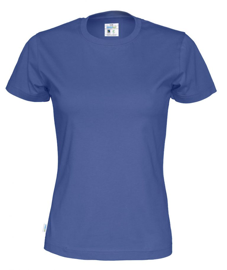 141007 CottoVer T-shirt lady royal