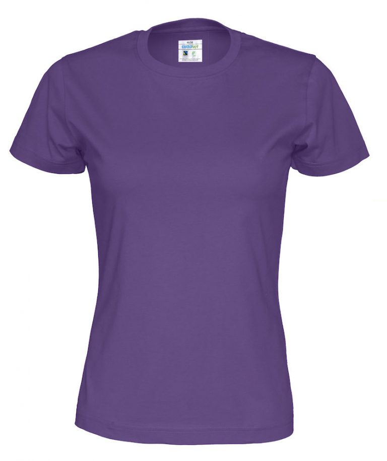 141007 CottoVer T-shirt lady purple