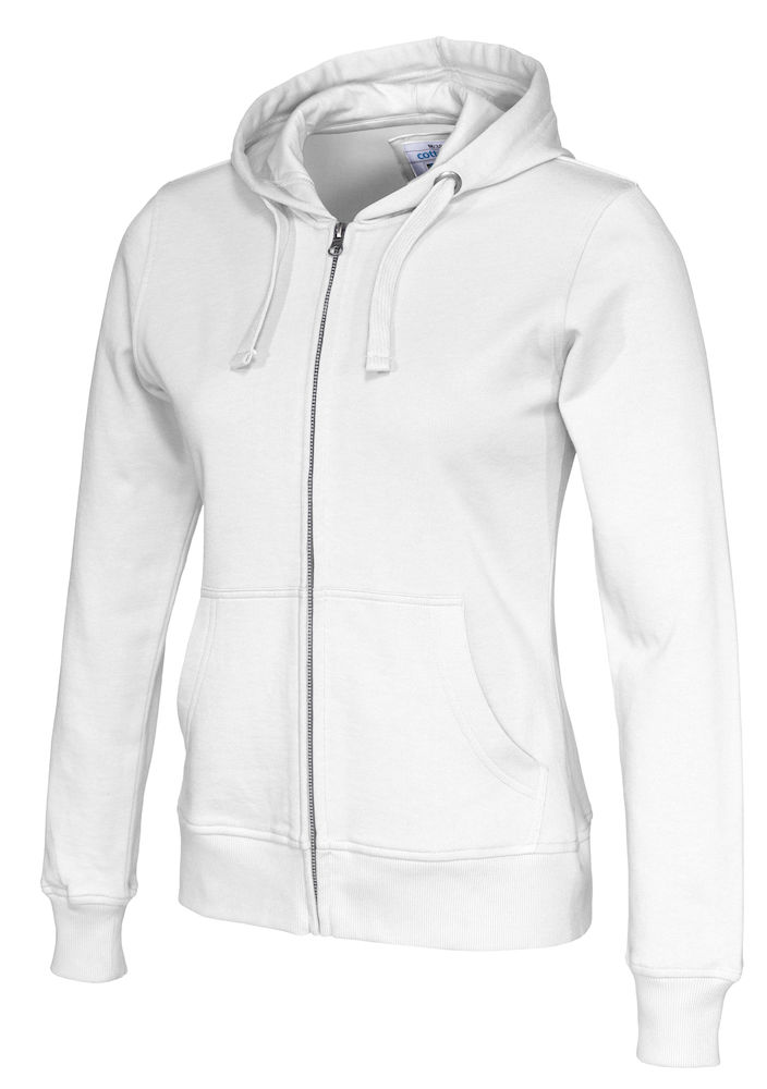 141009 CottoVer Hooded Sweatvest Lady White