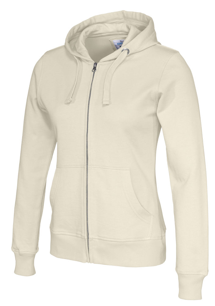141009 CottoVer Hooded Sweatvest Lady Off White