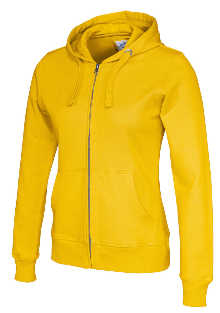 141009 CottoVer Hooded Sweatvest Lady Yellow