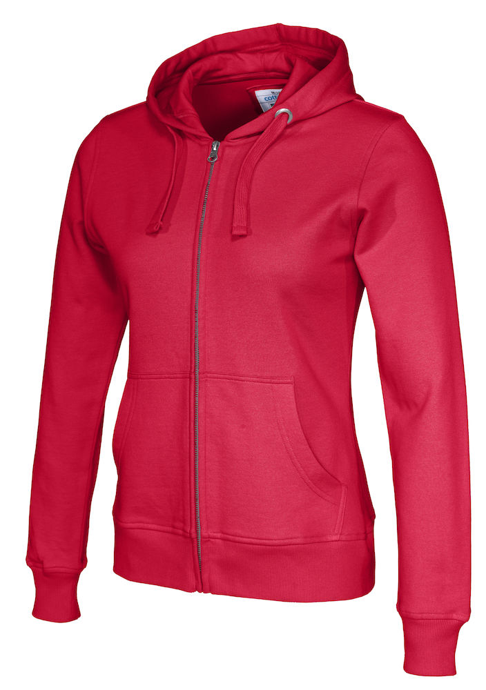 141009 CottoVer Hooded Sweatvest Lady Red