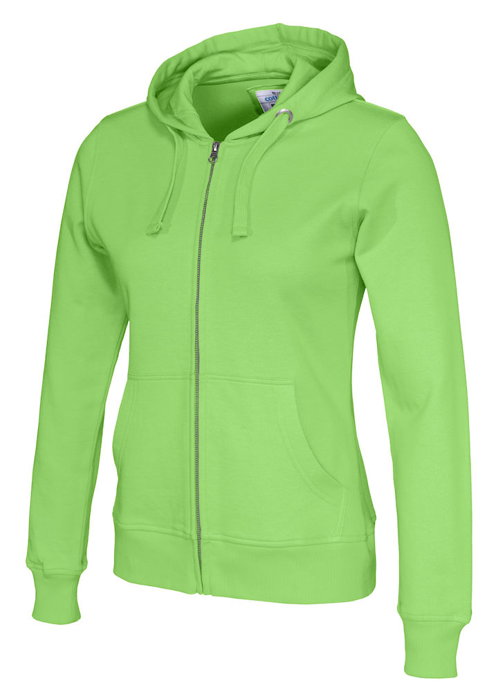 141009 CottoVer Hooded Sweatvest Lady Green