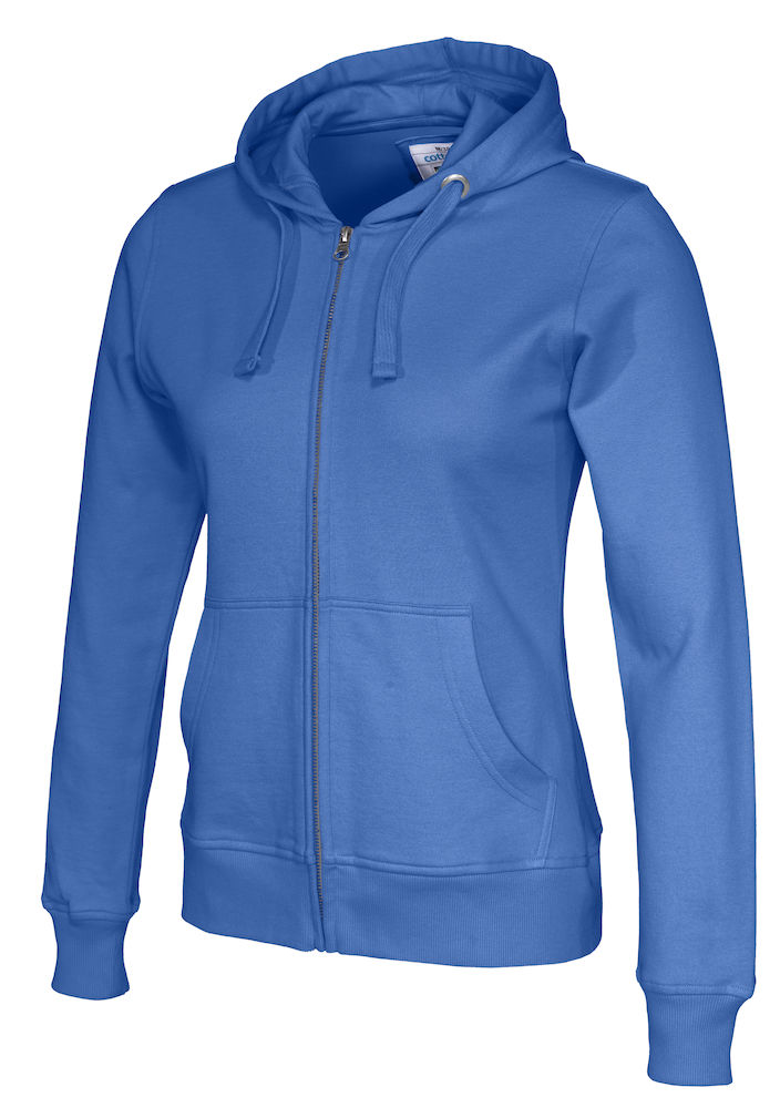 141009 CottoVer Hooded Sweatvest Lady Royal