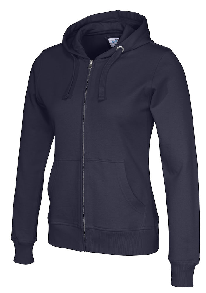141009 CottoVer Hooded Sweatvest Lady Navy