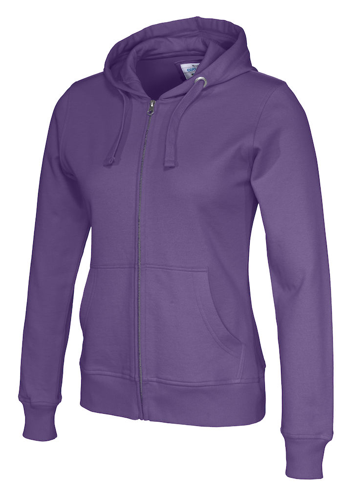 141009 CottoVer Hooded Sweatvest Lady Purple