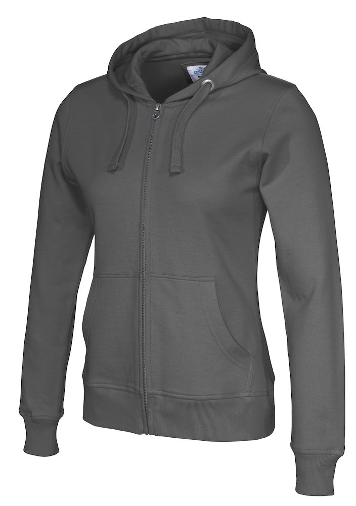 141009 CottoVer Hooded Sweatvest Lady Charcoal