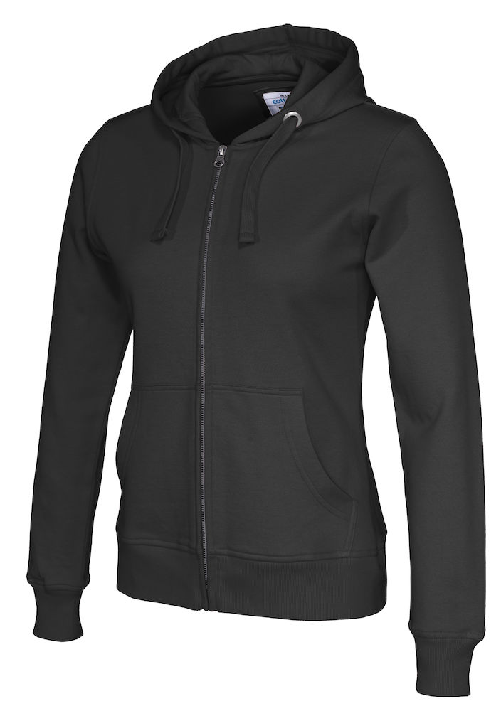 141009 CottoVer Hooded Sweatvest Lady Black
