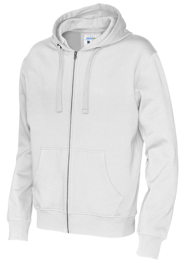 141010 CottoVer Hooded Sweatvest Man White