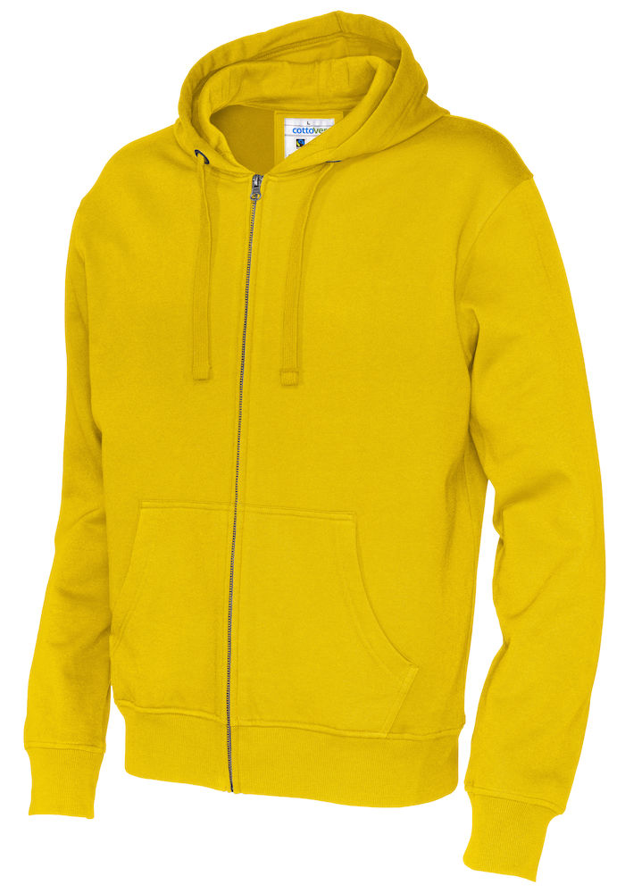 141010 CottoVer Hooded Sweatvest Man Yellow
