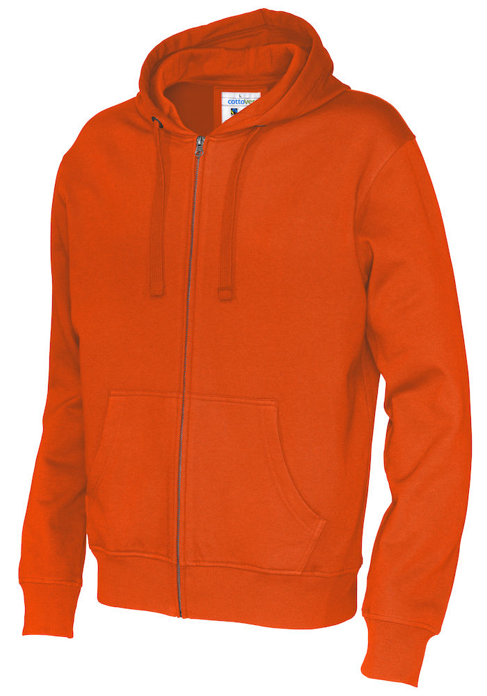 141010 CottoVer Hooded Sweatvest Man Orange
