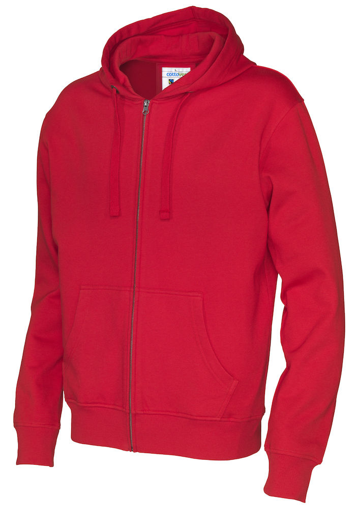 141010 CottoVer Hooded Sweatvest Man Red