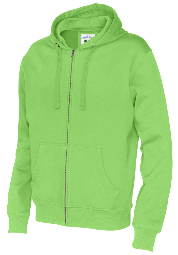 141010 CottoVer Hooded Sweatvest Man Green