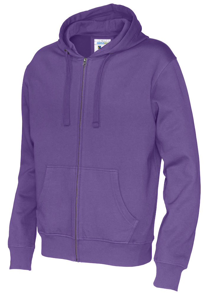 141010 CottoVer Hooded Sweatvest Man Purple