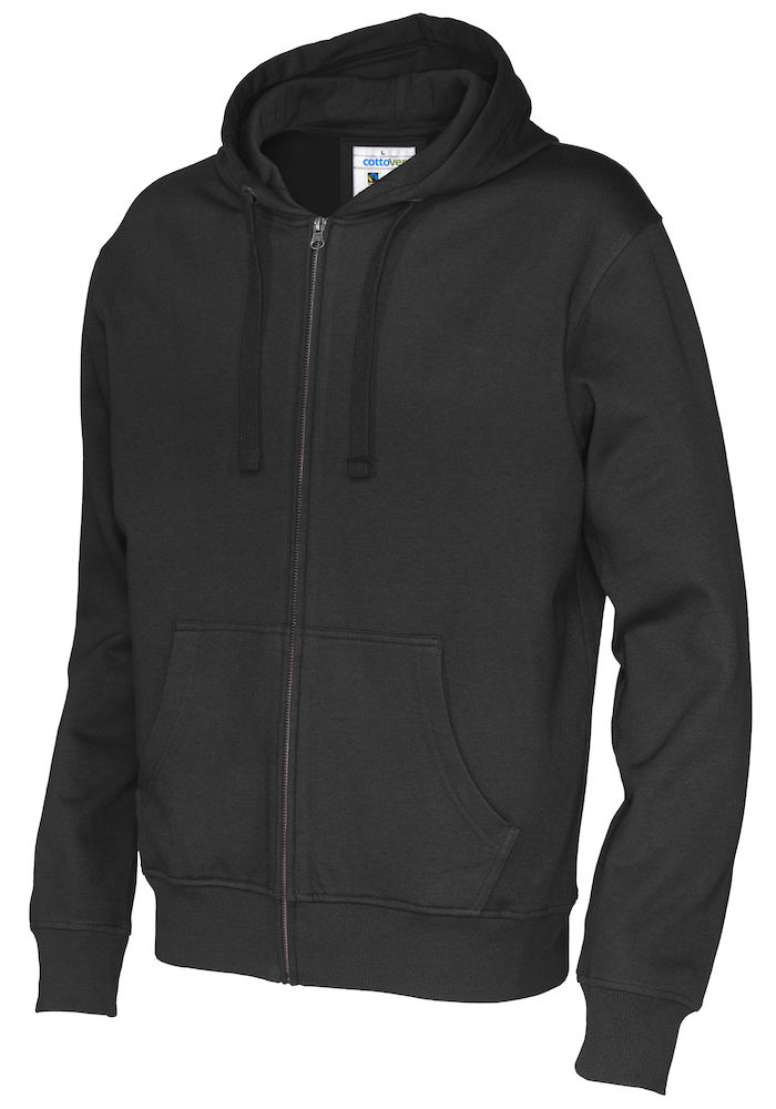 141010 CottoVer Hooded Sweatvest Man Black