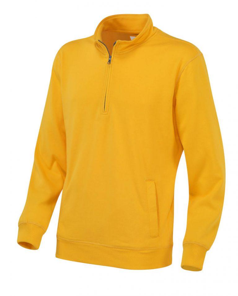 141012 CottoVer Zipsweater geel