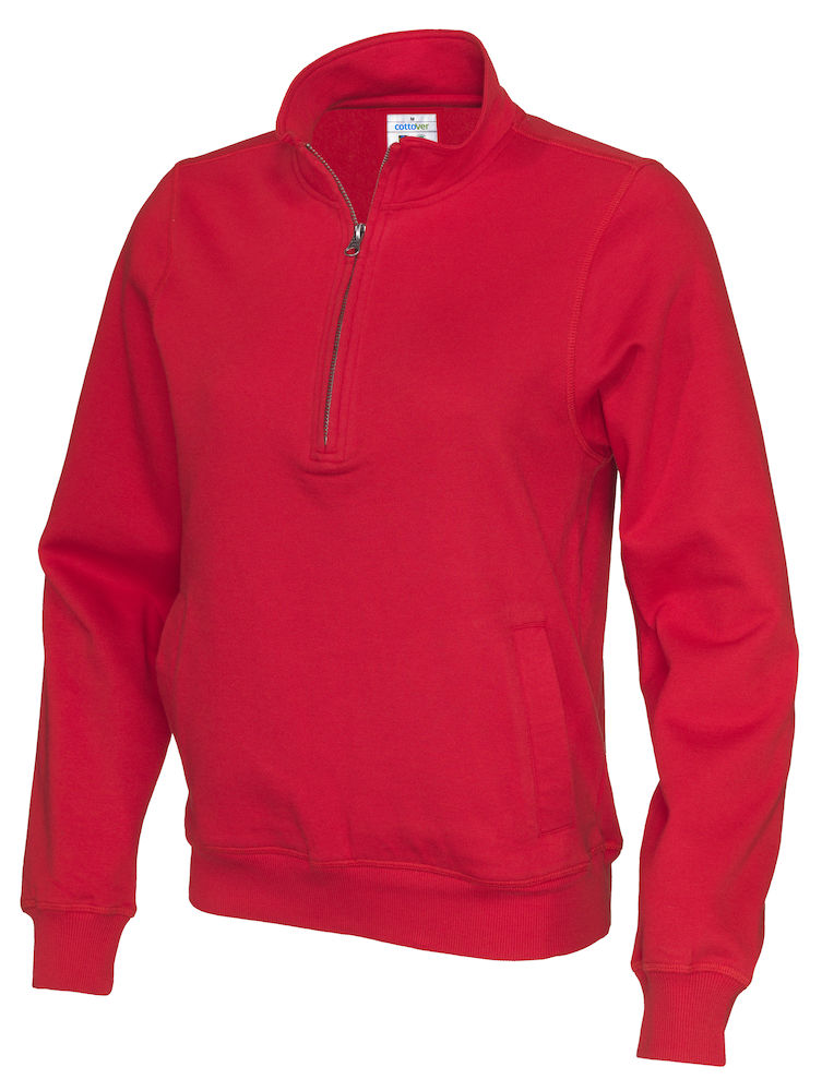 141012 CottoVer Zipsweater rood