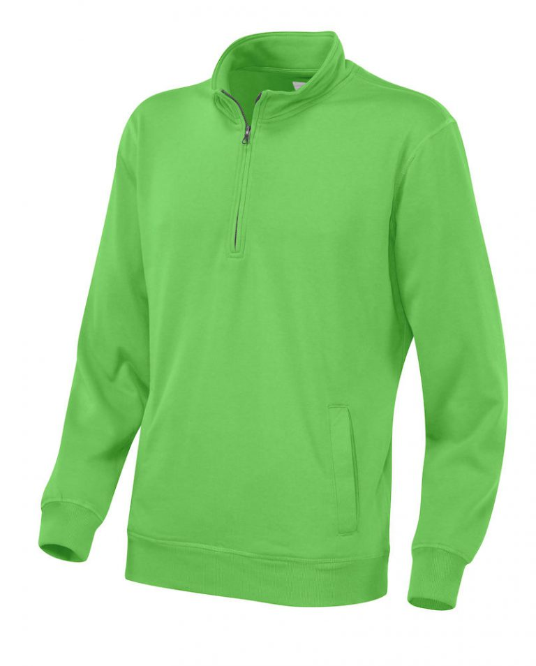 141012 CottoVer Zipsweater green