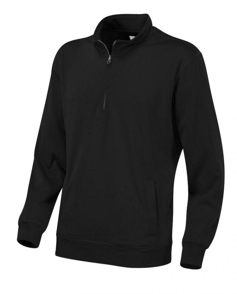 141012 CottoVer Zipsweater zwart