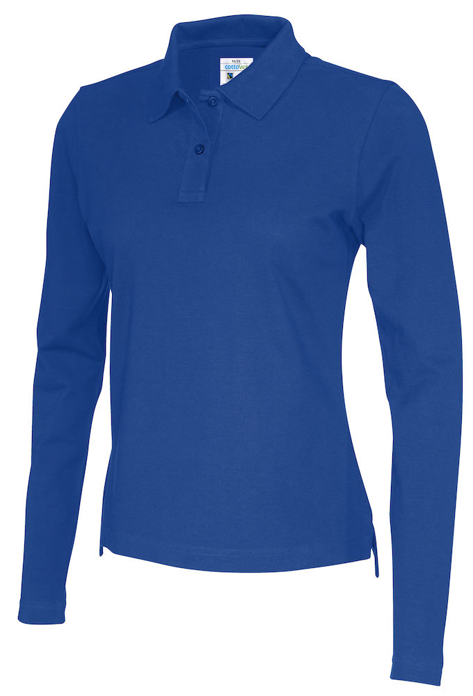 141017 CottoVer Polo Lady lange mouw royal