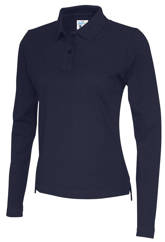 141017 CottoVer Polo Lady lange mouw navy