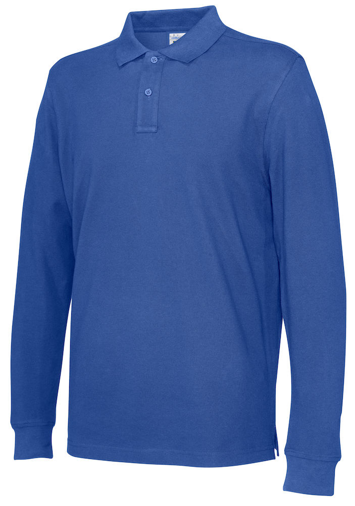 141018 CottoVer Polo Lange Mouw Man royal