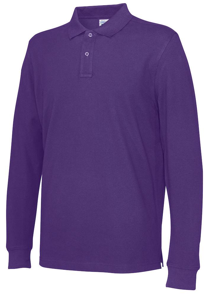 141018 CottoVer Polo Lange Mouw Man purple