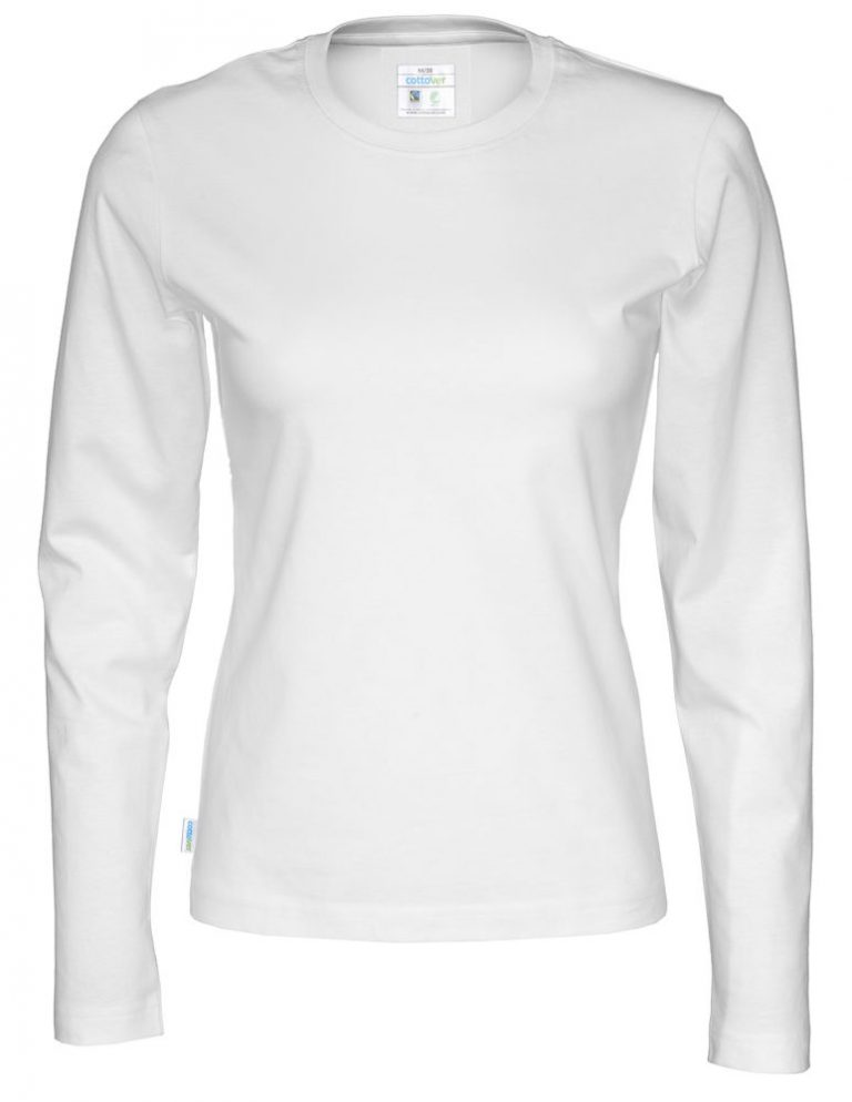 141019 CottoVer T-shirt lady lange mouw white